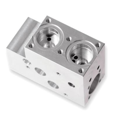 Ventilblock für die Medizintechnik 5-Achsen CNC Fäsen